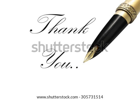 Impressionist photo isolated Lettering Series: Thank You. This has clipping path. ( fonts type kit Kunstler Script Regular ) - stock photo