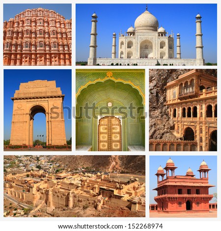 Impressions of India, Collage of Travel Images - stock photo