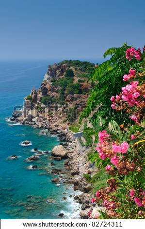 impressive turkish riviera coastline - stock photo
