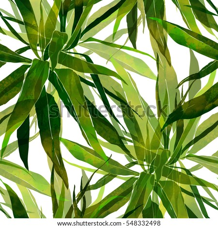 imprints palm leaves. hand painted seamless pattern. digital drawing and watercolor texture. background for textile decor and design. botanical wallpaper. boho chic art, mixed media. floral frame