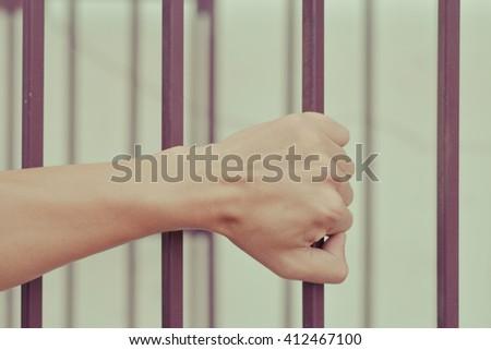 Imprison concept.Jail concept - stock photo