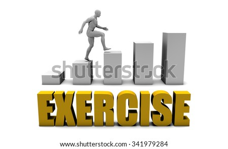 Improve Your Exercise  or Business Process as Concept - stock photo
