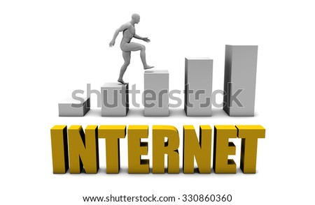 Improve Your Internet  or Business Process as Concept - stock photo