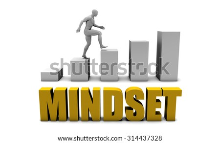 Improve Your Mindset  or Business Process as Concept - stock photo