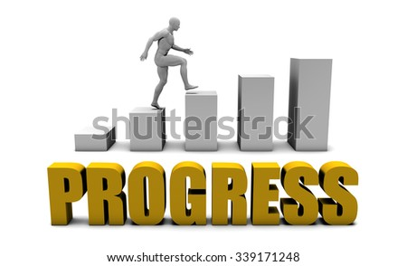 Improve Your Progress  or Business Process as Concept - stock photo
