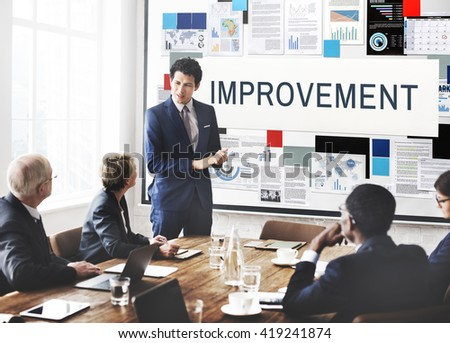Improvement Better Efficiency Growth Innovation Concept - stock photo