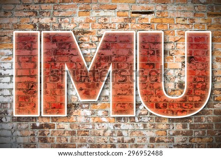 IMU: the most unpopular italian tax on land and buildings - concept image - stock photo