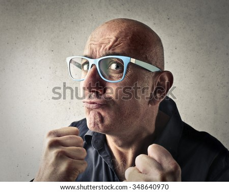 In a fighting mood - stock photo