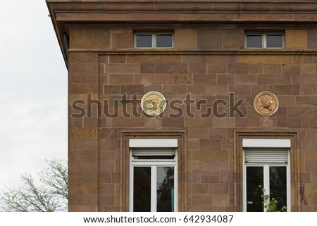 in a south german historical city facades with its detailed ornaments and figures describe fascinating romantic view at the time form 1900 until today