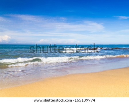In a Sunny Paradise Remote Resort  - stock photo