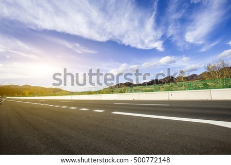 In autumn, highway landscape