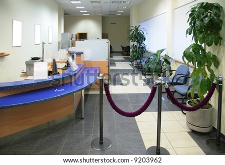 in bank office - stock photo