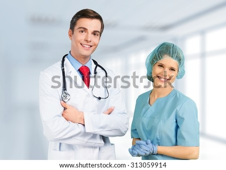 In Doctor's Office. - stock photo