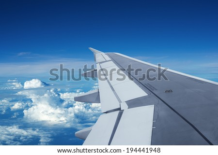 In flight - stock photo