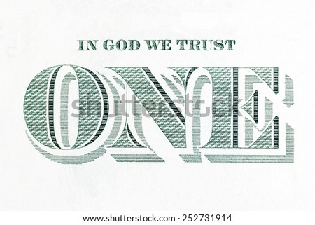 In God We Trust  - inscription from the dollar bill. - stock photo