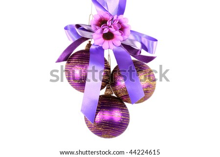 In many countries of the world, it is accepted to dress up for Christmas a fur-tree various ornaments - stock photo