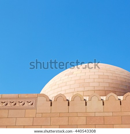 in oman the wall of big muscat mosque abstract background and antique - stock photo
