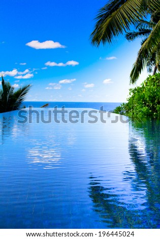In Paradise Pool Sea  - stock photo