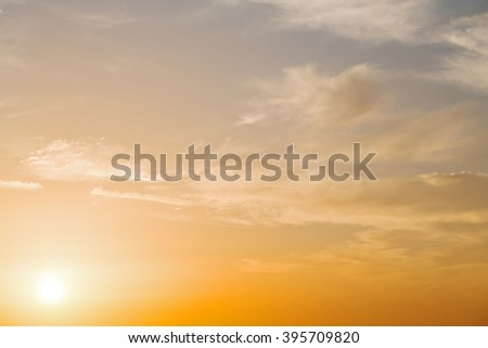 in   santorini    greece sunset and    the sky    mediterranean red sea - stock photo
