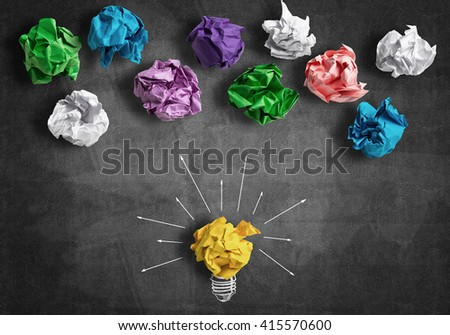 In search of great idea - stock photo