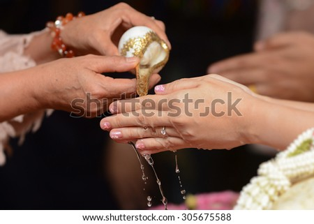 In Thailand you can even make your wedding a little more eco-friendly - stock photo