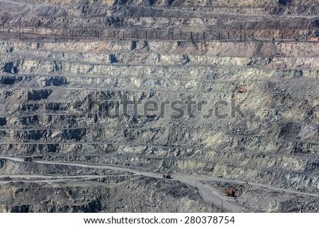 In the asbestos quarry - stock photo