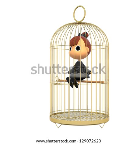 In the cage. - stock photo