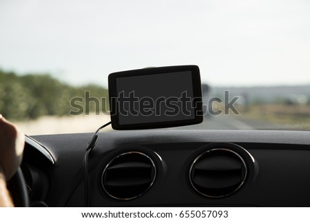 In the car with navigation device