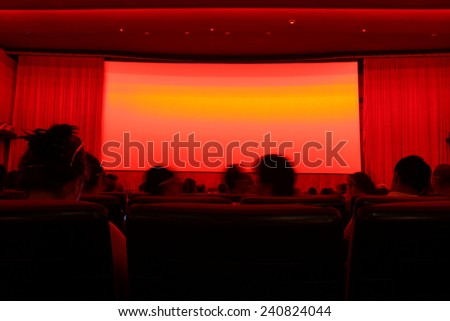In the cinema auditorium - stock photo