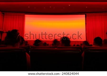 In the cinema auditorium - stock photo