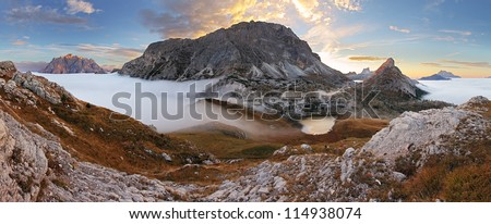 In the dolomites - passo Valparola