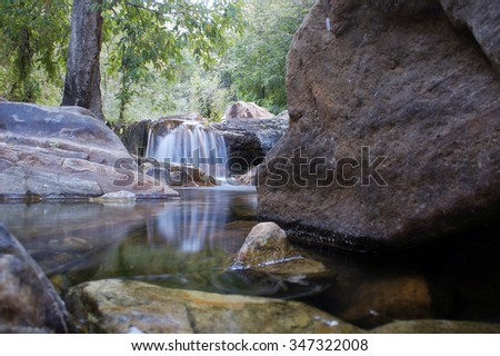 In the East Kimberley, random walk in the forest will take you to isolated water falls, peaceful stream amongst rock boulders.