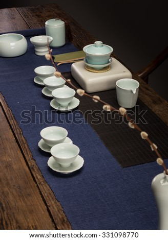 In the gallery's cup of tea - stock photo