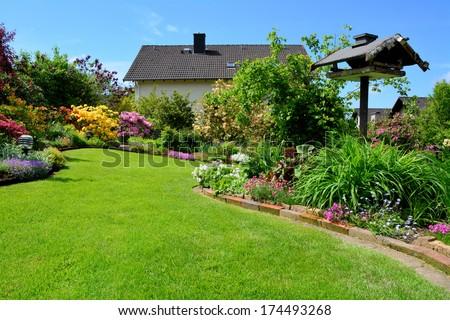 in the garden - stock photo