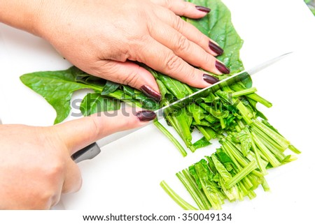 In the kitchen - stock photo