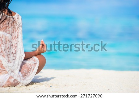 In the lotus posture close up - stock photo