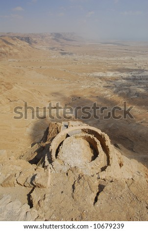 In the Masada fortress in Israel