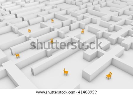 In the maze of the bureaucracy. - stock photo