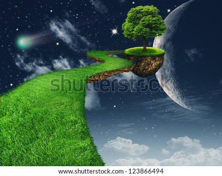 In the Moon light. Fantasy abstract backgrounds for your design - stock photo