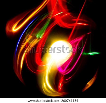 In The Night Bright Colors  - stock photo
