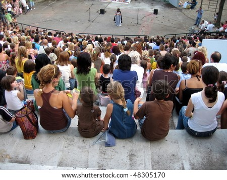in the open theater - stock photo