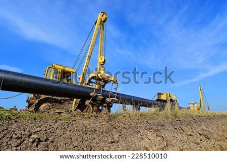 In the pipeline repairs  - stock photo