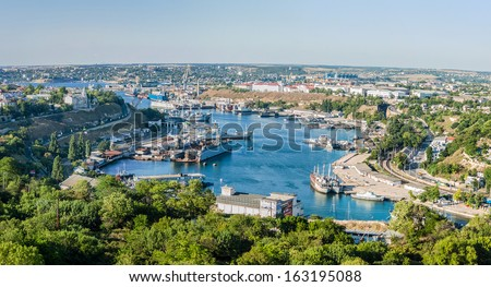 In the port of Sevastopol. Ukraine, Crimea - stock photo