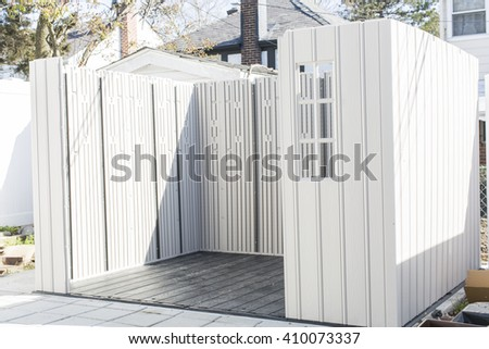 In the process of building a storage shed in backyard