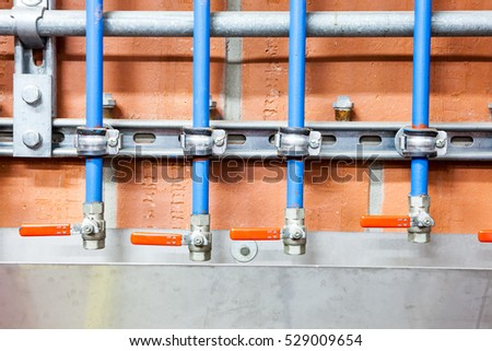 in the technical area, there are boosters for the water pipes of the building