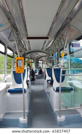 In the tram - stock photo
