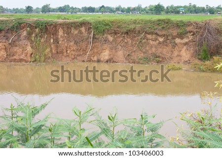 In the village and section of soil. Erosion due to water erosion.