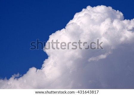 In this picture beautiful clouds shown with blue sky.