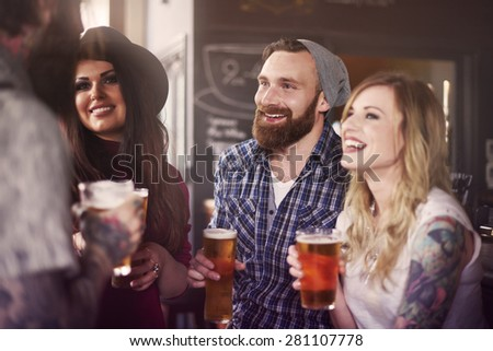 In this way we spending the weekend  - stock photo