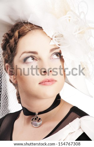 In white hat - stock photo
